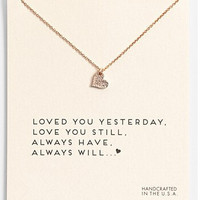 Sparkling heart gold plated Pendant necklace Heart Fashion Statement Clavicle Chains Necklace For Women Jewelry(Has card)