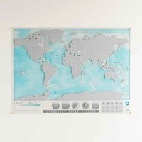 Ocean Scratch Map - Urban Outfitters