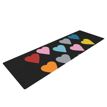 "Project M ""Hearts Colour on Black"" Yoga Mat"