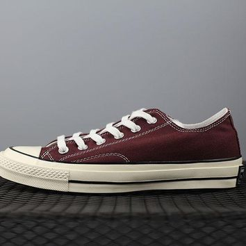 Converse 1970s Fashion Canvas Flats Sneakers Sport Shoes Wine Red