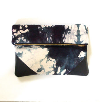 Hand Dyed Foldover Clutch