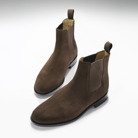 Brown Suede Goodyear Welted Chelsea Boots