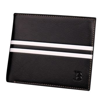 Famous Brand Men's  Leather Wallet Male Retro ID Card Holder Short Cloth Men Casual Bifold Coin Purse Wallets Carteira #YL
