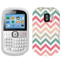 Alcatel One Touch 871A Chevron Peach Pink Green Red Pattern Phone Case Cover