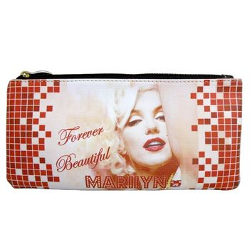 Licensed Marilyn Monroe Cute Pencil/Makeup Pouch