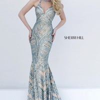 Beaded Slim Gown by Sherri Hill
