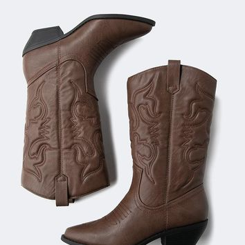 Lasso Embroidered Cowboy Boot
