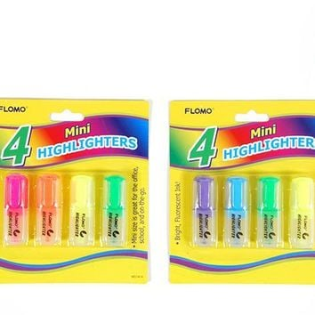 4 pack Mini Highlighters - CASE OF 48