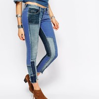 Blank NYC Patchwork Skinny Jeans