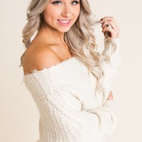 The Better Half Off The Shoulder Sweater (Ivory)