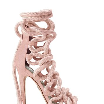 Carla Rose Suede Rope Sandals - Monika Chiang