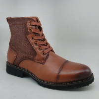 Men's Tan Dress Boot with Zipper