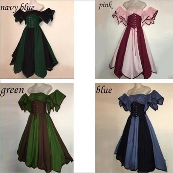 Medieval Womens' Gothic Fairy Dress Renaissance Maiden