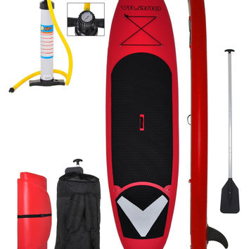 """Vilano Voyager 11'x 6"""" Thick Inflatable SUP Stand Up Paddle Board Package"""