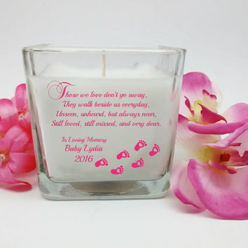 Personalized Baby Memorial, Memorial Candle, In Loving Memory, Personalized Candle, Memorial Gift, Sympathy Gift, Unique Gift, Custom Candle
