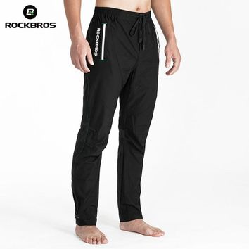 ROCKBROS Running Pants Elasticity Trousers Band Reflective Breathable Hiking Cycling Mount Road Bicycle Men's Pants Sportswear