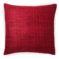 Streams 20x20 Cotton Pillow, Maroon, Decorative Pillows