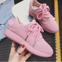 Womens Light Pink Sports Shoes