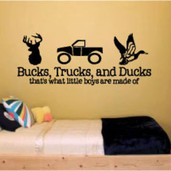 "large 18"" x 42"" bucks, trucks and from designstudiosign"