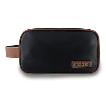 Mens Black/brown Toiletry Bag