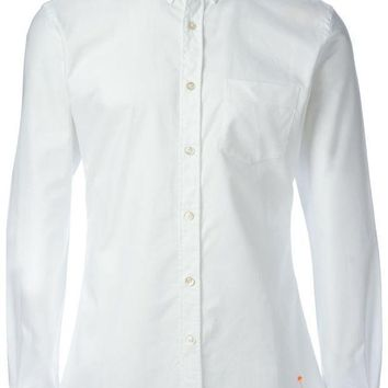 ICIKIN3 Tomas Maier button-down collar shirt with a palm tree detail to the front