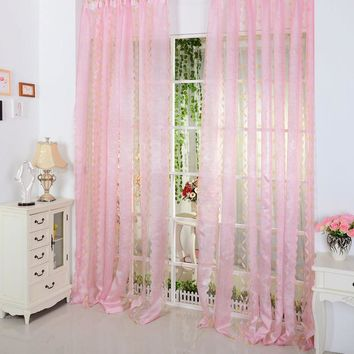 Top Selling For Hot Sheer Voile Window Curtains Door Room Decoration Panel Drape Valances Scarf