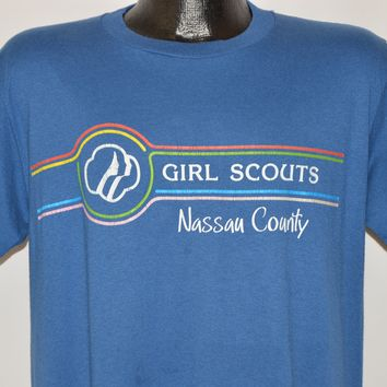 80s Nassau County Girl Scouts Soft t-shirt Large