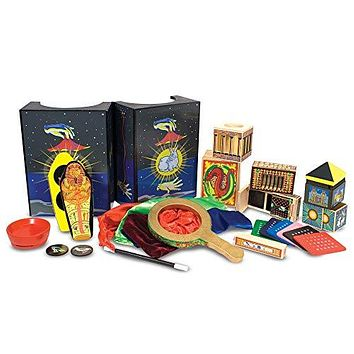 """Melissa & Doug Deluxe Magic Set (Kids Magic Set, 10 Classic Tricks, Step-By-Step Instructions, 3.8"""" H x 14.1"""" W x 9.6"""" L, Great Gift for Girls and Boys - Best for 8, 9, 10 Year Olds and Up): Melissa & Doug: Toys & Games"""