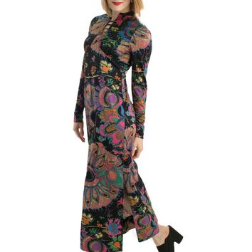 70s Don Luis De Espana Print Maxi Dress