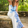 Front And Center Maxi Dress, Blue
