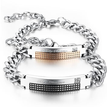Unique engrage Stainless steel bracelet