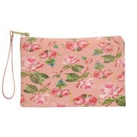 Allyson Johnson Pink Floral Pouch