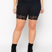 ASOS CURVE Legging Short With Lace Hem