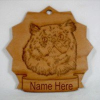 Persian head Cat Wood Ornament 087287 by gclasergraphics on Etsy