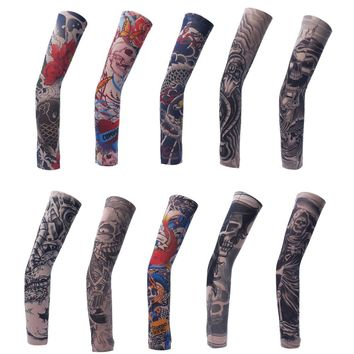 Skin Proteive hot High Quality Fake Temporary 10 Models Tattoo Arm Sleeves Unisex Temporary Fake Slip On Tattoo Arm Sleeves kit
