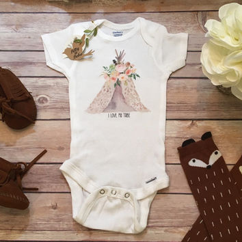 I Love My Tribe Onesuit®, Boho Baby Clothes, Baby Girl Clothes, Baby Shower Gift, Teepee Onesuit, Cute Baby Clothes, Cute Onesuits, Tribal Baby