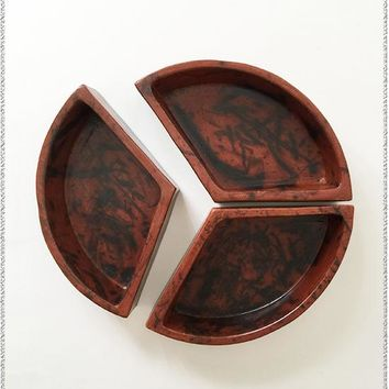 Clay Serving Dish Trio
