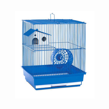 Prevue Hendryx Two Story Hamster And Gerbil Small Animal Cage, Color - Blue