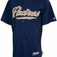 San Diego Padres Batting Practice Authentic Performance Jersey Navy Adult Sizes