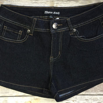 Basic Denim Shorts: Black Wash