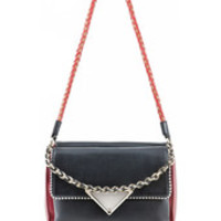 Sara Battaglia carol shoulder bag black ruby