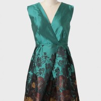 floral watercolor printed dress at ShopRuche.com