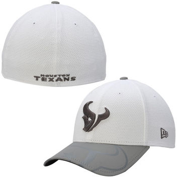 Houston Texans New Era Series Gunner Two-Tone 39THIRTY Flex Hat – White