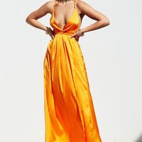 Girl On Fire Maxi Dress (Orange)
