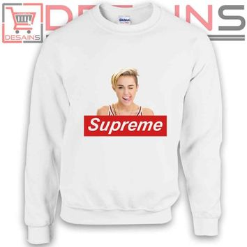 Buy Sweatshirt Miley Cyrus Supreme Sweater Womens and Sweater Mens