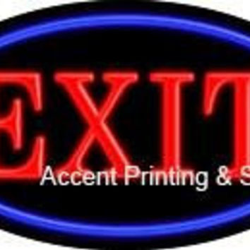 Exit Flashing Handcrafted Real GlassTube Neon Sign