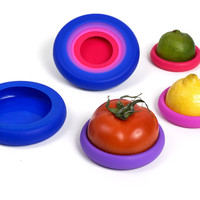 Set of Four Food Huggers - Bright Berry Colors