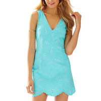 Lilly Pulitzer Madden Scallop Hem V-Neck Dress