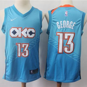 Oklahoma City Thunder 13 Paul George City Edition Swingman Jersey