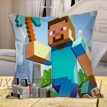 Minecraft Mine Craft  on Square Pillow Cover